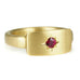 20K Gold Signet Ring with Single Star-Set Burmese Ruby