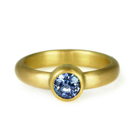 22K Gold Ring with Blue Sapphire