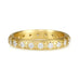 Caroline Ellen Gold Rounded 3.4mm Ring with 20 Star-Set Diamonds