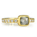 20K Gold Moghul Diamond Ring with Pave Diamond Band
