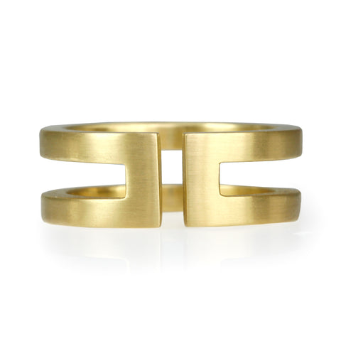 "20K Gold Narrow ""Double"" Ring"