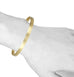 Caroline Ellen 18 Karat Yellow Gold Wide Flat-Edge Bangle with Satin Finish.