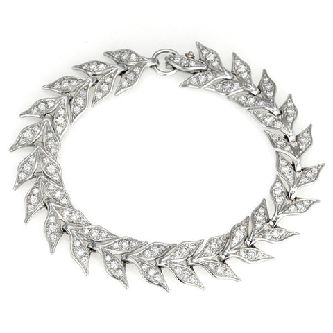 "Platinum and Diamond ""Wheat"" Bracelet"