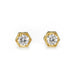 Cathy Waterman 22K Gold Hexagonal Bezel-Set Diamond Studs