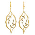 "Gold and Diamond ""Scalloped Framed Vine"" Earrings"