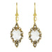"22K Gold and White Topaz ""Small Scallop"" Earrings with Diamonds"