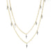 "Cathy Waterman 22K Gold ""Double Tiny Lacy Chain"" with Platinum and Diamond ""Fringe"""