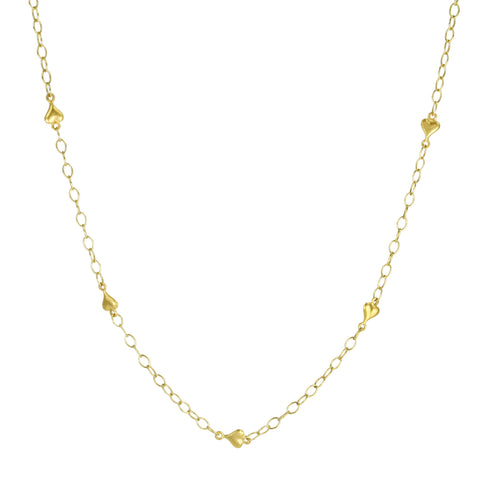 "Cathy Waterman 22K Gold ""Heart"" Chain with Toggle Clasp"