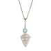 "Cathy Waterman Platinum and Pave Diamond ""Shield"" Charm with Emerald Top"