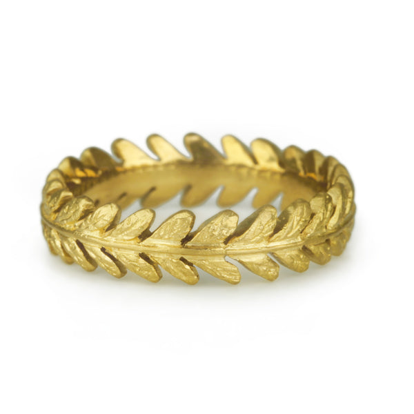"22K Gold ""Laurel Leaf"" Ring"