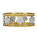 "Cathy Waterman 22K Gold and Platinum & Diamond ""Scalloped Flower"" Ring"