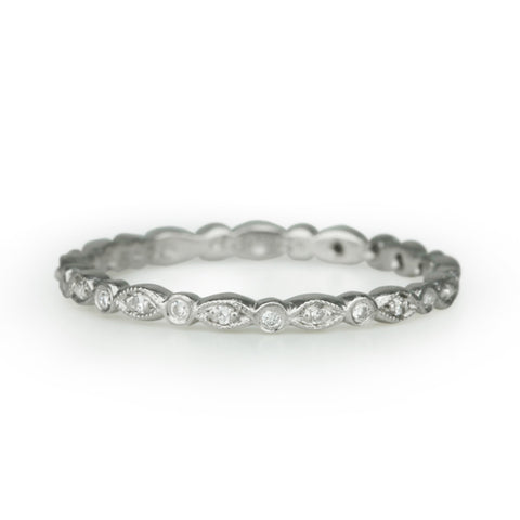 "Platinum and Diamond ""Marquise"" Ring"