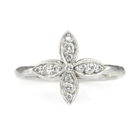 "Platinum and Diamond ""Bombay Star"" Ring"