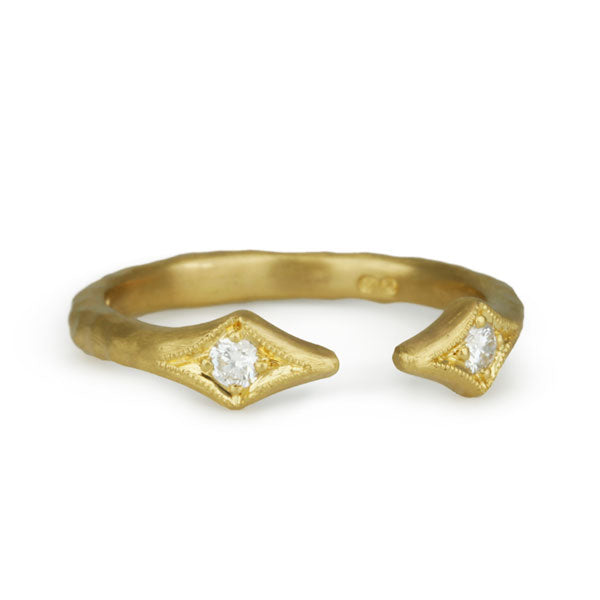 "22K Gold and Diamond ""Double Arrow"" Ring"