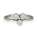 "Platinum and Diamond ""Triple Hexagonal"" Ring"