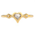 "Cathy Waterman 22K Gold Bezel-Set Grey Rosecut Diamond ""Heart"" Ring"