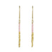 "Pink and Gold Vermeil Beaded ""Stick"" Earrings"
