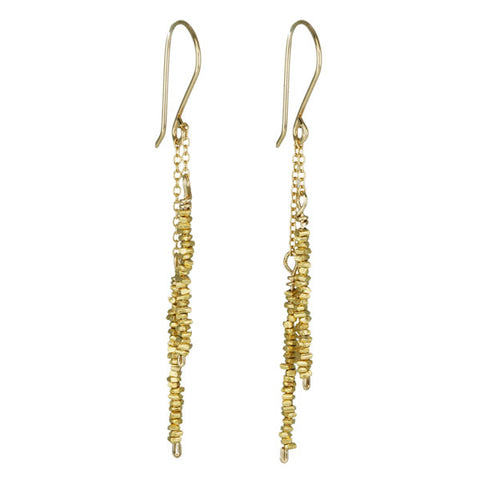 Gold Vermeil Stick Earrings