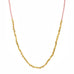 Pink Seed and Gold Vermeil Shell Necklace