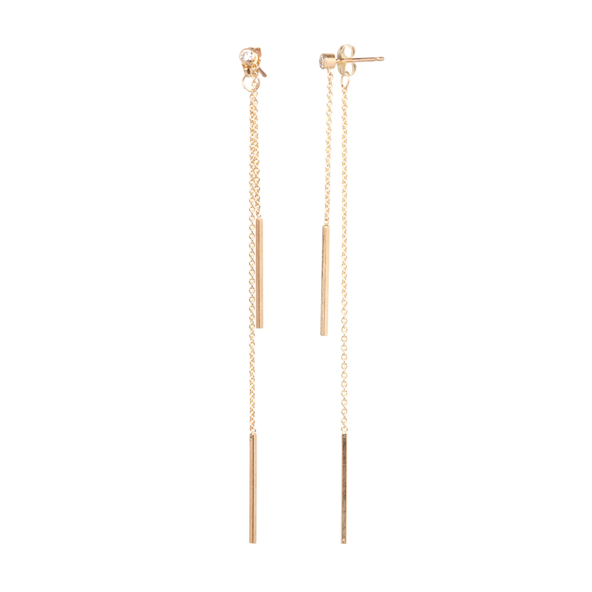 brands chain earrings long mck releve gold collections products