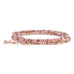 "Anne Sportun Pale Pink Rhodonite & Pyrite ""Confetti"" Beaded Wrap Bracelet"