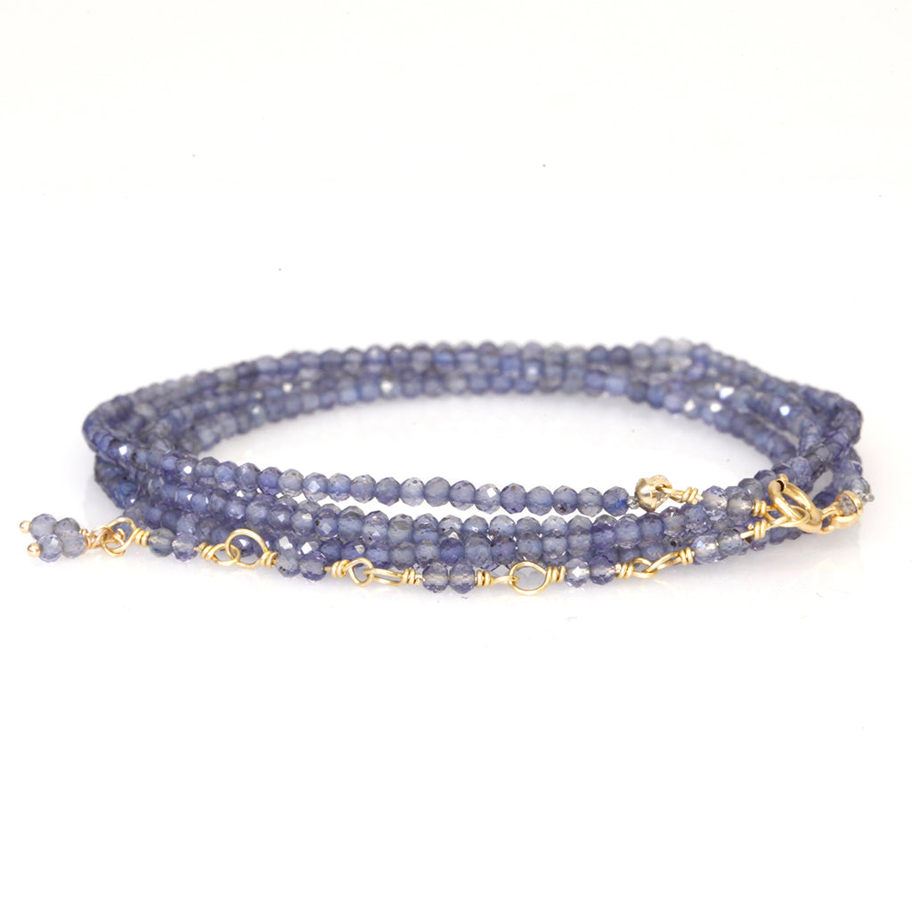 Anne Sportun Iolite Beaded Wrap Bracelet