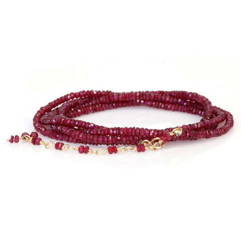 Anne Sportun Ruby Rondelle Beaded Wrap Bracelet