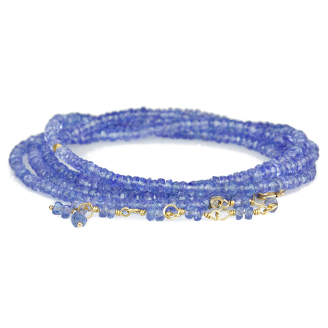 Anne Sportun Faceted Tanzanite Beaded Wrap Bracelet