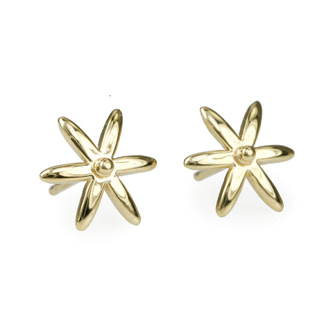 "Gold ""Star"" Post Earrings"