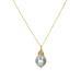 "Anne Sportun 18 Karat Yellow Gold Necklace with Silver ""Floating"" Pearl Drop."