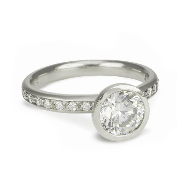 """Louisa"" Mount With Pave Diamond Shoulders"
