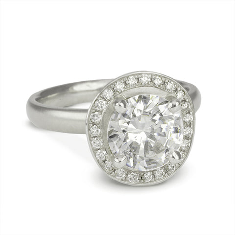 """Organic Halo"" Mount with Pave Diamond Halo"