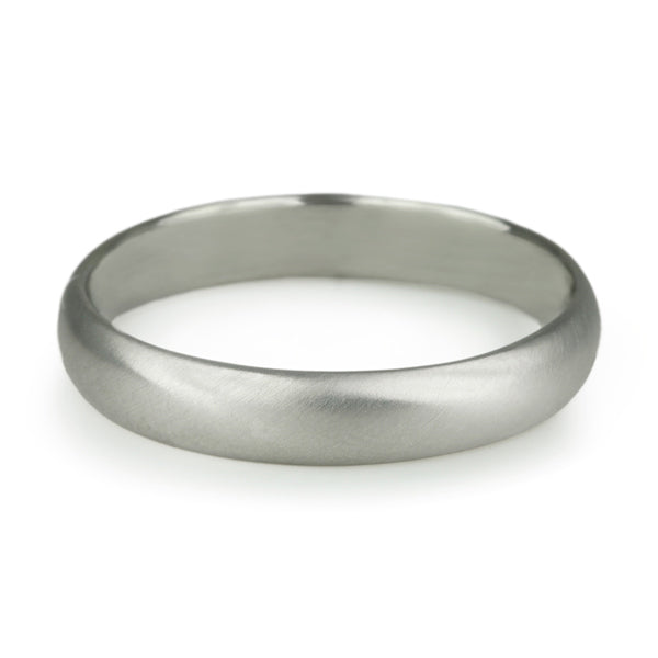 "Anne Sportun Men's White Gold ""Straight Edge"" Band"