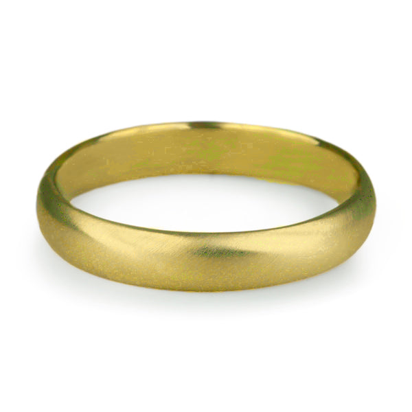 "Anne Sportun Men's Gold ""Straight Edge"" Band"