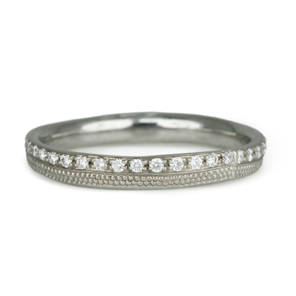 "White Gold and Pave Diamond ""Stardust"" Ring"