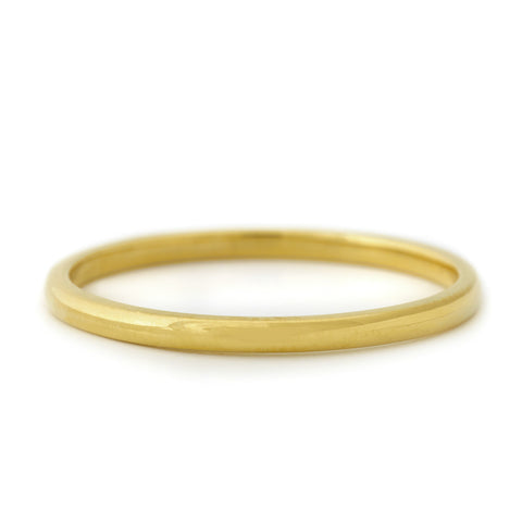Gold High Polish Domed Ring