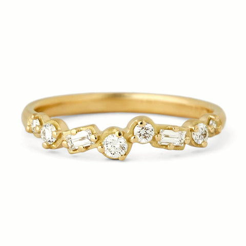 "Anne Sportun Gold and Mixed-Cut Diamond ""Festival"" Cascade Band"