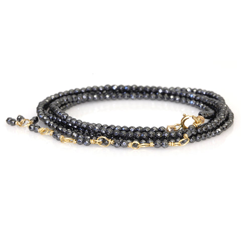 Anne Sportun Hematite Beaded Wrap Bracelet - Small