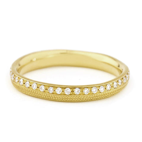 "Anne Sportun Gold and Pave Diamond ""Stardust"" Ring"