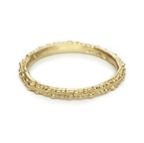 Gold Double Beaded Band