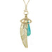 "Jacquie Aiche Pave Diamond ""Open Eye"" Charm with Opal Center"