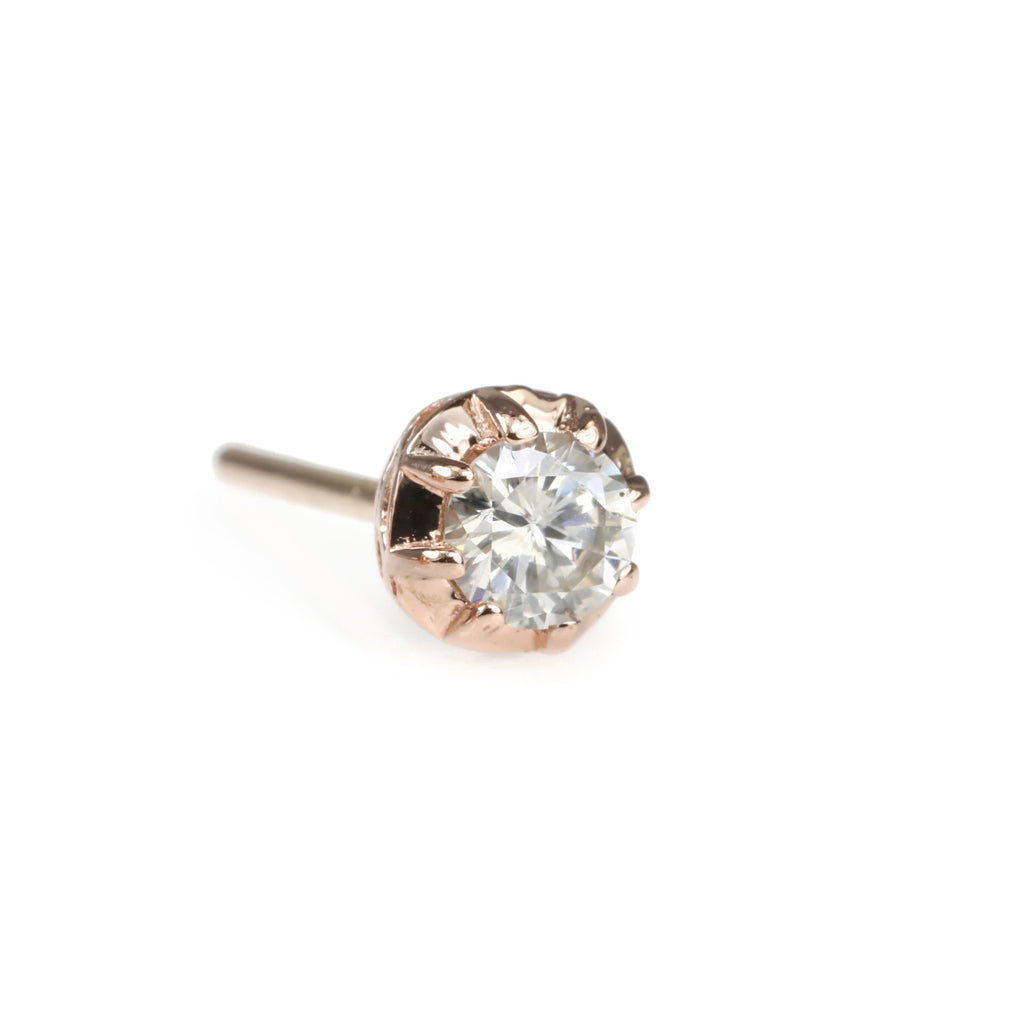 "Jacquie Aiche Rose Gold Diamond ""Sophia"" Stud Earring"