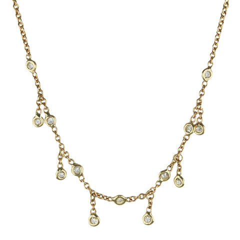 "Gold and Diamond Half ""Shaker"" Necklace"