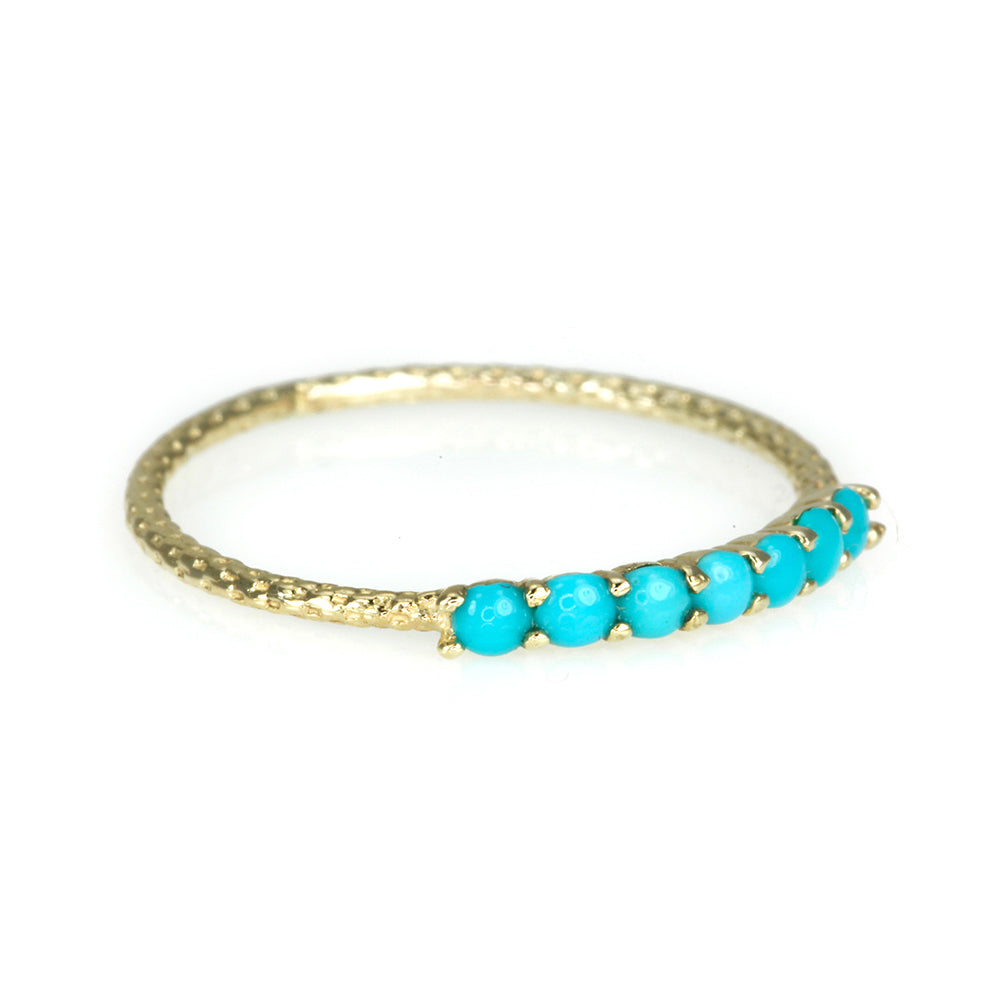 "Gold Turquoise ""Vintage Waif"" Ring"