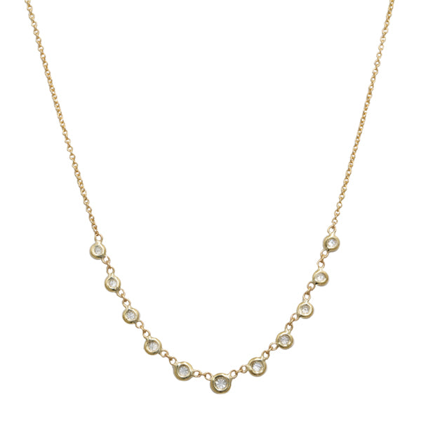 "Gold and Diamond ""Emily"" Necklace"