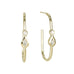 Jacquie Aiche Long Oval Hoop Earrings with Round and Teardrop Diamonds
