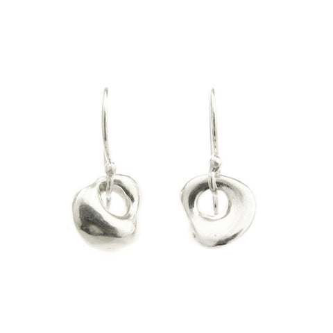 "Johanna Brierley Silver ""Wonky"" Lucky Stone Drop Earrings"
