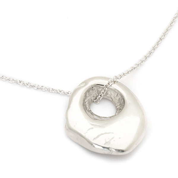 "Johanna Brierley Sterling Silver ""Cave Luck"" Necklace"