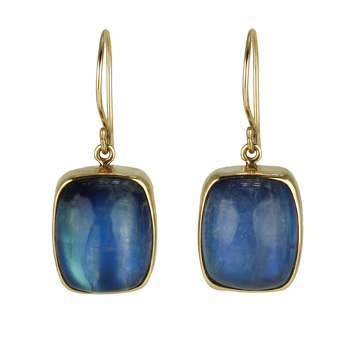 Jamie Joseph Rectangular Rainbow Moonstone Earrings