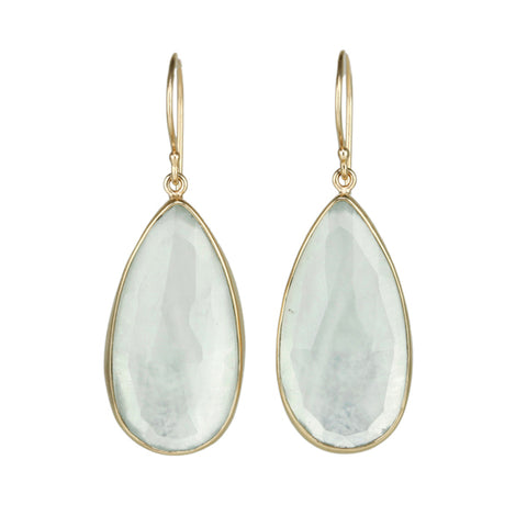 Jamie Joseph Teardrop Aquamarine Earrings